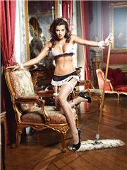Maid | Lace Cuff, Bra, Garter Skirt, Panty