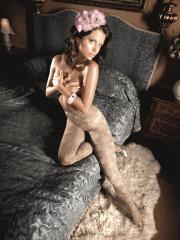 Ivory Lace Pantyhose