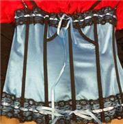 Blue Satin Corset