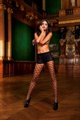 Control Top Diamond Net Pantyhose